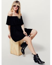 Free People | Black Serefina Off The Shoulder Dress | Lyst