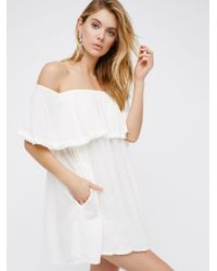 Free People | White Serefina Off The Shoulder Dress | Lyst