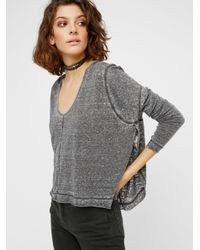 Free People | Black Shadow Tee | Lyst