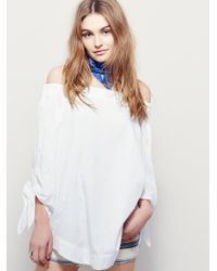 Free People | White Show Some Shoulder Top | Lyst