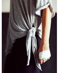 Free People - Gray Shredded Tee - Lyst
