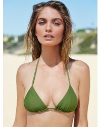 Free People   Green Simply Triangle Top Solid Tie Side Bottoms   Lyst