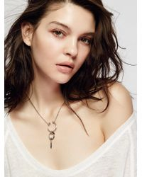 Free People | Metallic Skyla Metal Necklace | Lyst