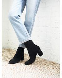 Free People | Black Cecile Ankle Boot | Lyst