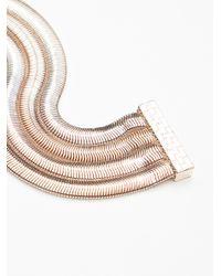 Free People - Metallic Snake Chain Multi Cuff - Lyst
