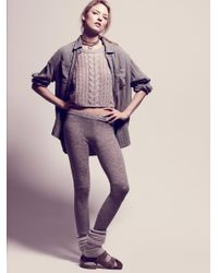 Free People | Gray Soft Legging | Lyst