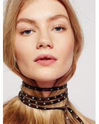 Free People | Multicolor South Wind Studded Leather Wrap | Lyst