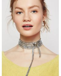 Free People | Metallic South Wind Studded Leather Wrap | Lyst