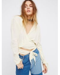 Free People   Multicolor Sparrow Song Wrap Top   Lyst