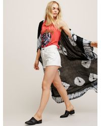 Free People | Black Spellbound Tie Dye Kimono | Lyst