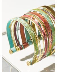 Free People - Multicolor Stacked Patina Multi Cuff - Lyst