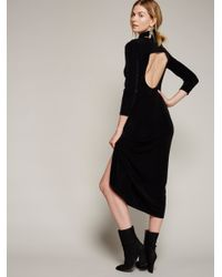 Free People | Black Stay Close Knit Dress | Lyst