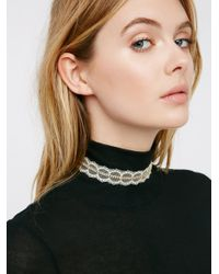 Free People | White Stoned Lace Choker | Lyst