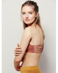 Free People - Metallic Strappy Side Bra - Lyst