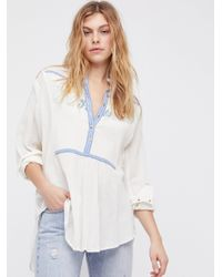 Free People | White Sunflower Fields Top | Lyst