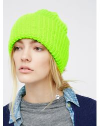 Free People | Green Super Slouch Beanie | Lyst