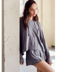 Free People | Gray Take It Easy Short | Lyst