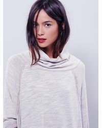 Free People | Natural Terri Cocoon Pullover | Lyst