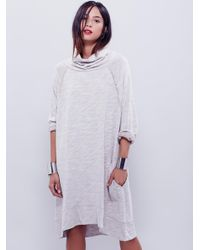 Free People - Natural Terri Cocoon Pullover - Lyst