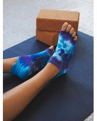 Free People | Blue Tie Dye Grip Yoga Sock | Lyst