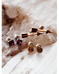 Free People - Pink Tiny 6 Pack Studs - Lyst