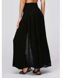 Free People | Black Tropicale Maxi Skirt | Lyst