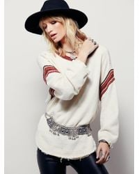 Free People | Natural Trudy Pullover | Lyst
