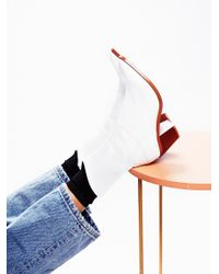 Free People | White Vegan Arcadia Ankle Boot | Lyst