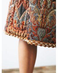 Free People - Multicolor Vintage 1980s Printed Skirt - Lyst