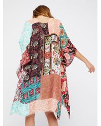 Free People | Multicolor Voodoo Child Patchwork Kimono | Lyst