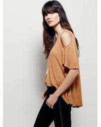 Free People | Brown We The Free Bittersweet Tee | Lyst