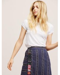 Free People | White We The Free Clare Tee | Lyst