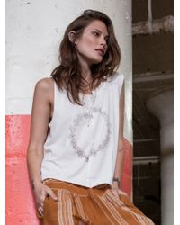 Free People | White We The Free Daisy Chain Tee | Lyst