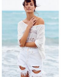 Free People | White We The Free High Tide Boardie Short | Lyst