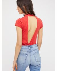 Free People | Red We The Free Honey Honey Tee | Lyst