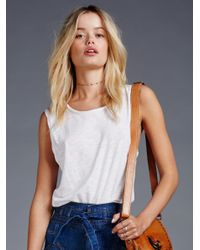 Free People | White We The Free Park Slope Tank | Lyst