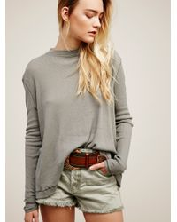 Free People | Gray We The Free Wander Tee | Lyst