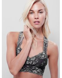 Free People | Gray Wild Roses Gallon Racerback Wild Roses Undie Wild Roses Thong | Lyst