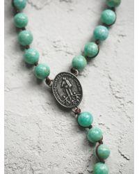 Free People - Green Wild Spirit Necklace - Lyst