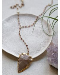 Free People - Metallic Yael Arrow Rosary - Lyst