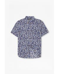 French Connection | Blue Monet Freedom Floral Print Shirt for Men | Lyst