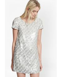 French Connection | Gray Snow Sequins Tunic Dress | Lyst