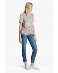 French Connection | Gray Rainbow Jewel Embellished Top | Lyst