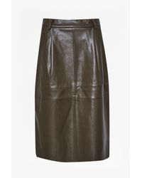 French Connection - Black Patrice Faux Leather Skirt - Lyst