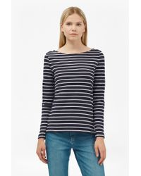 French Connection | Blue Tim Tim Long Sleeve Striped Top | Lyst