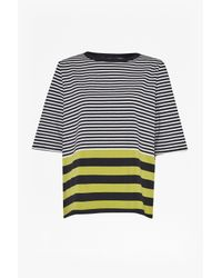 French Connection - Gray Midsummer Striped T-shirt - Lyst