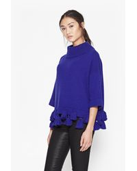French Connection - Blue Annabelle Oversized Tassel Jumper - Lyst