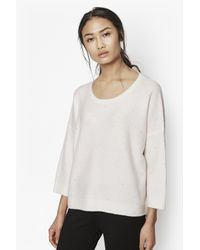 French Connection - White Frosted Sequin Jumper - Lyst