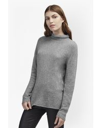 French Connection | Gray Carrie Cashmere Roll Neck Jumper | Lyst