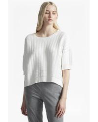 French Connection - White Ladder Mozart Oversized Jumper - Lyst